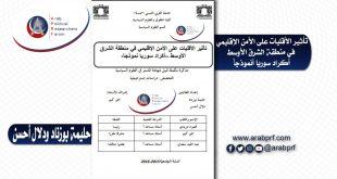 تأثير الأقليات على الأمن الإقليمي في منطقة الشرق الأوسط - أكراد سوريا أنموذجاً